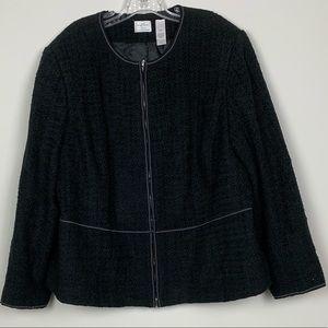 Emma James Black texture Black Blazer sz 22W